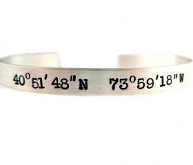 Cuff Bracelet - Sterling Silver Hand Stamped Jewelry